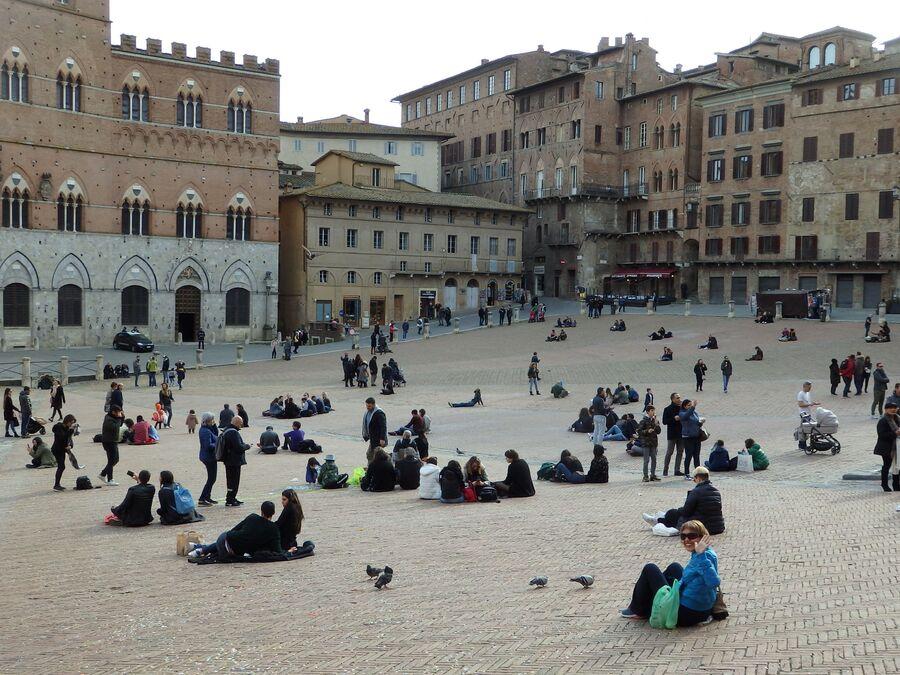 Тоскана. Сиена. Пьяцца дель Кампо