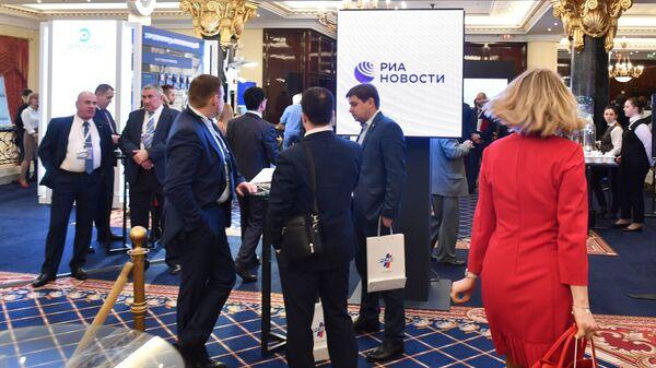 Участники Недели российского бизнеса в Москве. 12 марта 2019