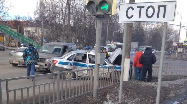 Место ДТП с участием автомобиля Росгвардии в Бронницах. 12 марта 2019