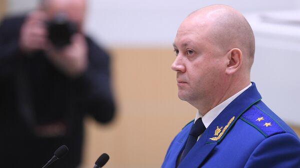 Прокурор Московской области Алексей Захаров на заседании Совета Федерации РФ. 13 марта 2019
