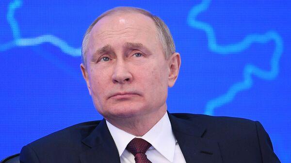 Президент РФ Владимир Путин на пленарном заседании съезда Российского союза промышленников и предпринимателей