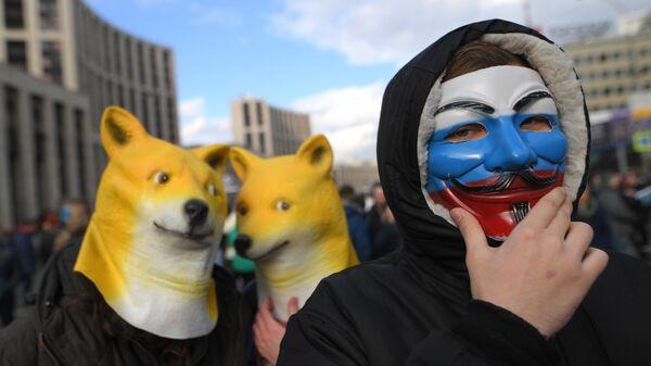Участники согласованного митинга против регулирования интернет-отрасли. 10 марта 2019