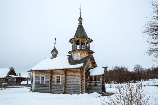 Церковь Илии Пророка в деревне Телятниково в Медвежьегорском районе Республики Карелия
