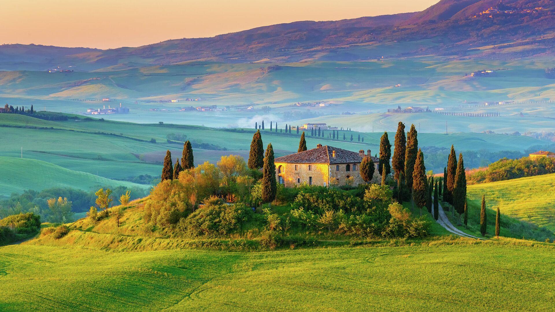 Тосканский пейзаж, Италия - РИА Новости, 1920, 23.10.2020