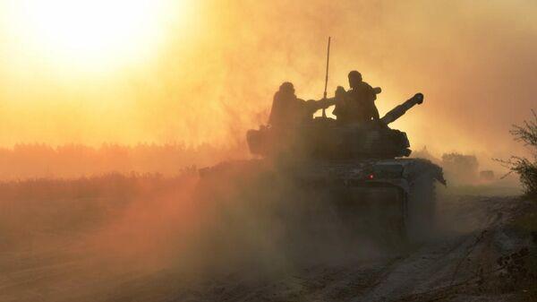 Тактические учения на Ровенском войсковом полигоне
