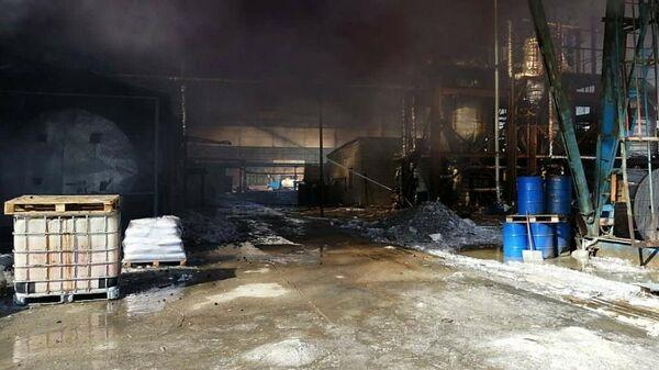 Пожар на литейно-механическом заводе в Советском округе города Омска. 19 марта 2019