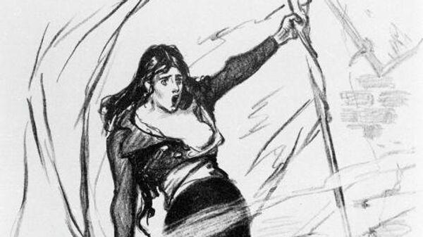 Репродукция литографии Революция работы французского художника Теофиля-Александра Стейнлена
