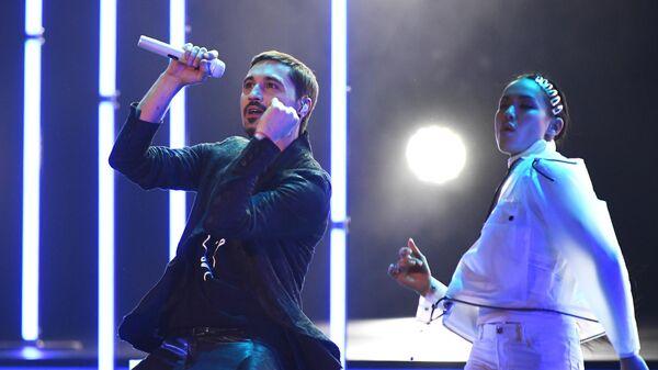 Певец Дима Билан во время вручения музыкальной премии BraVo в Москве
