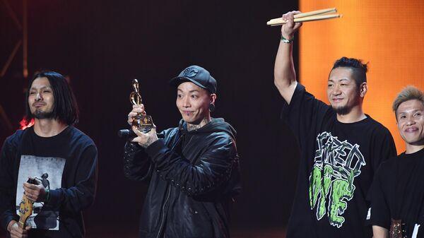 Группа ROACH (Япония) во время церемонии вручения музыкальной премии BraVo в Москве