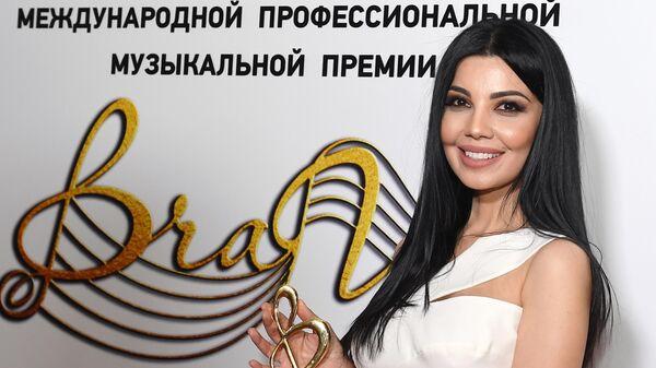 Певица Шахзода (Узбекистан) после церемонии вручения музыкальной премии BraVo в Москве