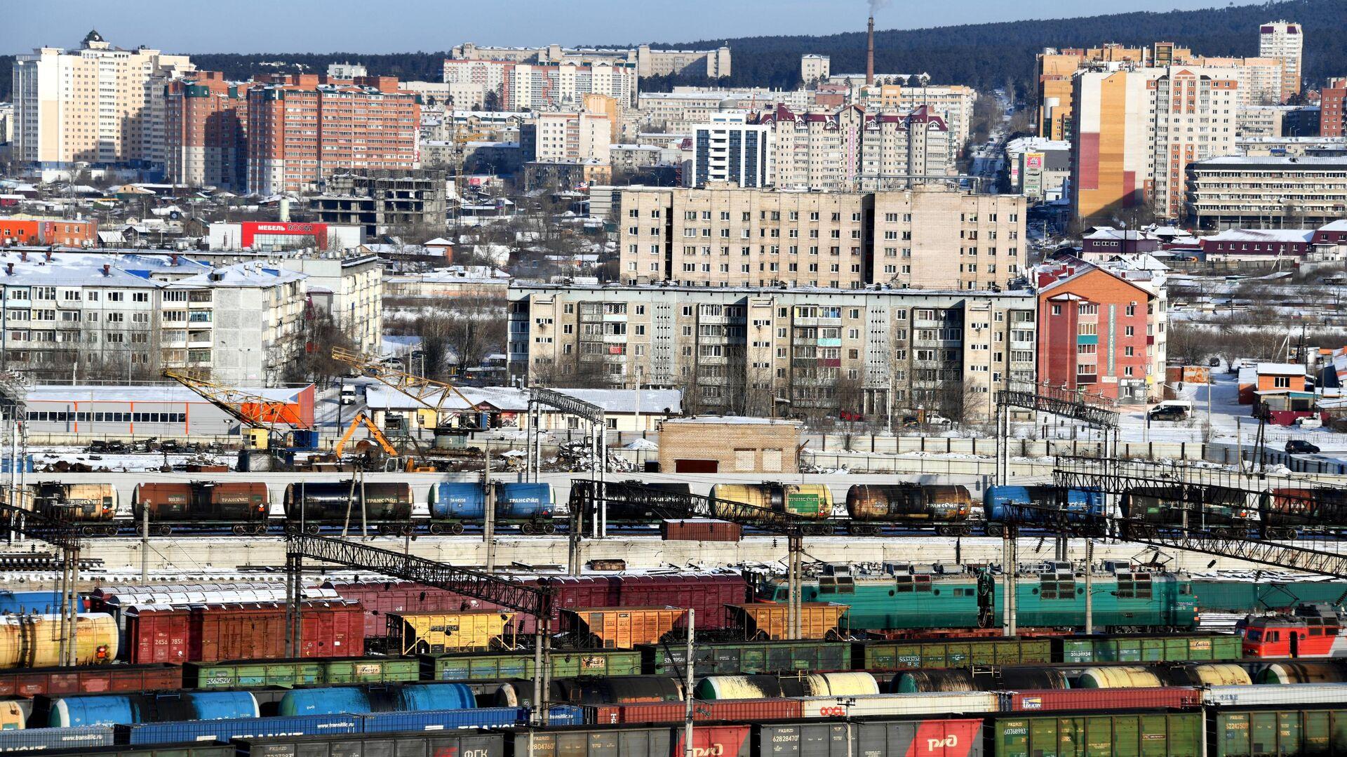 Забайкальская железная дорога Транссибирской магистрали в Чите - РИА Новости, 1920, 14.05.2021