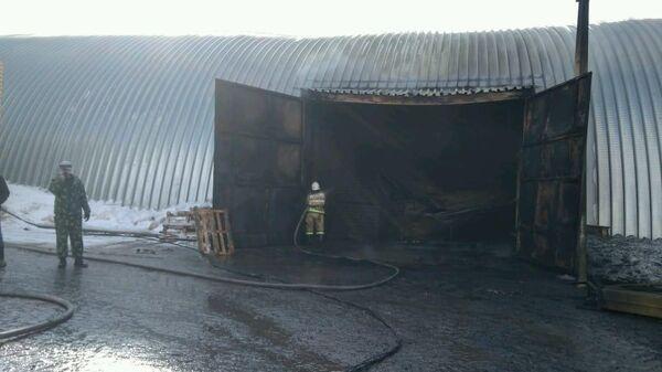 Пожар в овощехранилище в Липецкой области. 23 марта 2019
