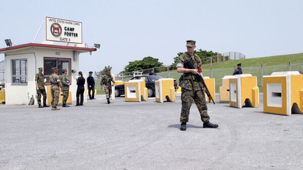 Американская военная база Кэмп Фостер на острове Окинава в Японии