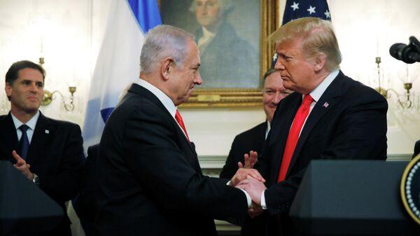 Президент США Дональд Трамп и премьер-министр Израиля Биньямин Нетаньяху в Белом доме в Вашингтоне. 25 марта 201