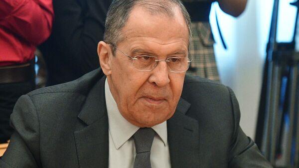 Министр иностранных дел РФ Сергей Лавров на встрече в Москве с делегатами Американской торговой палаты в России. 26 марта 2019