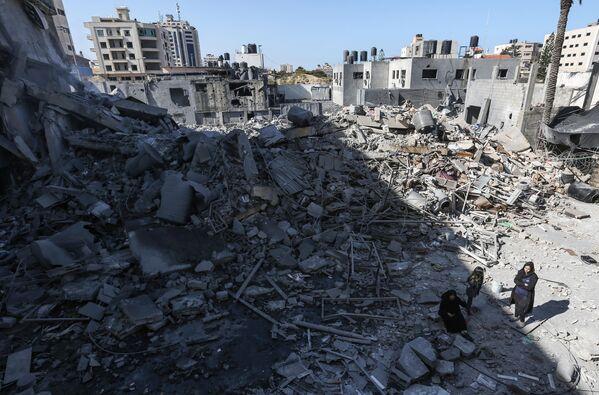 Последствия ударов Израиля по сектору Газа