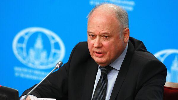 Руководитель Информационного центра НАК Андрей Пржездомский на пресс-конференции, посвященной профилактике терроризма