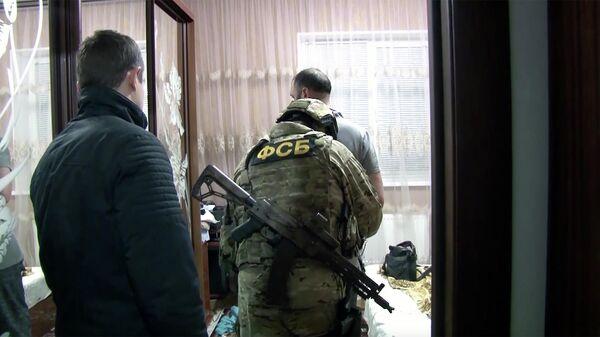 Задержние участников террористической организации Хизб ут-Тахрир аль-Ислами (организация запрещена в России) в Крыму