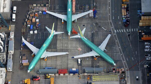 Самолеты Boeing 737 MAX на территории завода Boeing в Рентоне