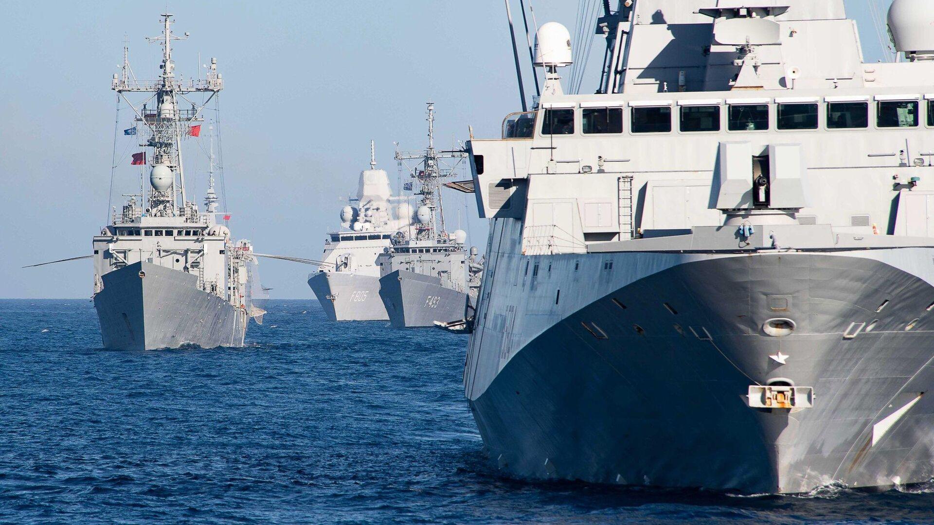 Корабли НАТО, вошедшие для учений в Черное море - РИА Новости, 1920, 03.12.2020