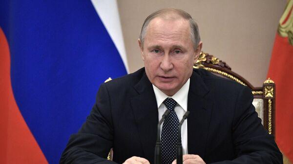 Владимир Путин проводит совещание с постоянными членами Совета безопасности РФ. 29 марта 2019