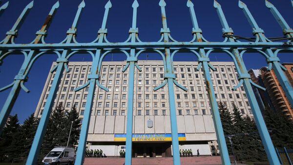 Здание ЦИК Украины в Киеве во время президентских выборов президента Украины