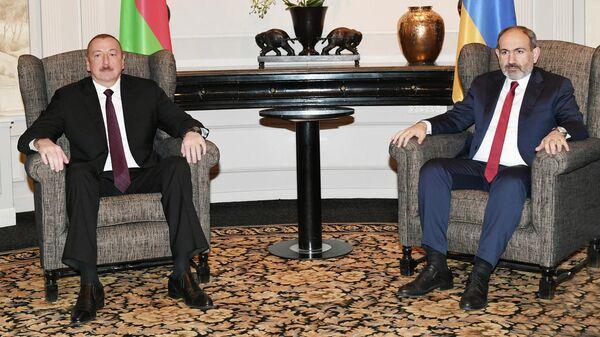 Встреча президента Азербайджана Ильхама Алиева и премьер-министра Армении Никола Пашиняна