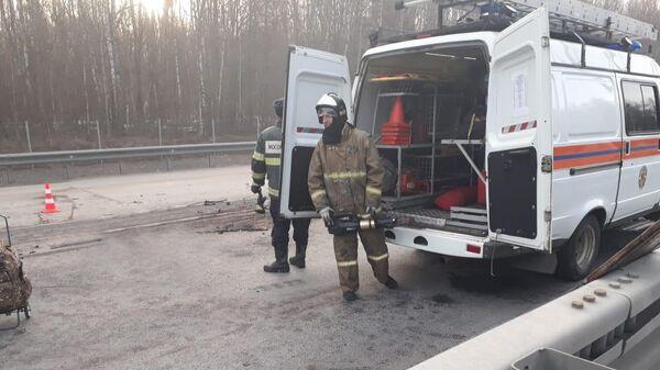 ДТП с фурой и микроавтобусом в Домодедово. 4 апреля 2019