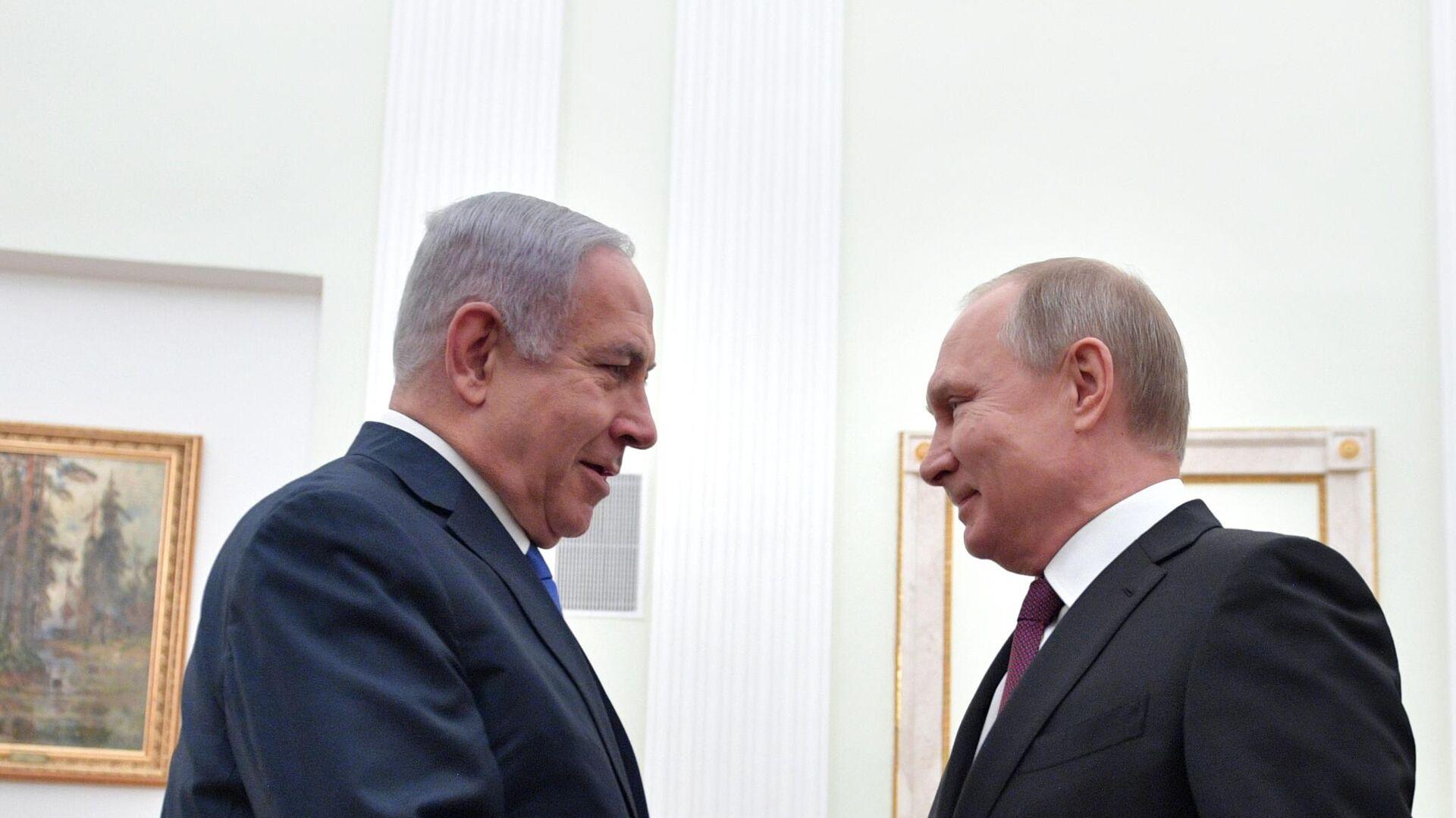 Президент РФ Владимир Путин и премьер-министр Израиля Биньямин Нетаньяху - РИА Новости, 1920, 06.03.2021