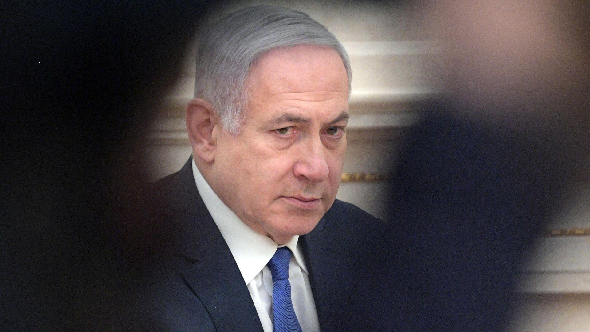 Премьер-министр Израиля Биньямин Нетаньяху во время встречи с президентом РФ Владимиром Путиным. 4 апреля 2019  - РИА Новости, 1920, 01.03.2021