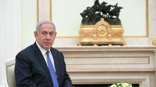 Премьер-министр Израиля Биньямин Нетаньяху во время встречи с президентом РФ Владимиром Путиным. 4 апреля 2019