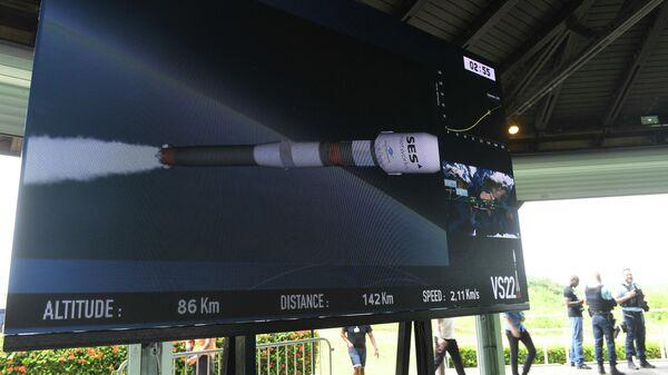 Трансляция старта ракеты-носителя Союз-СТ с разгонным блоком Фрегат для вывода на орбиту 4 спутников O3b проекта глобального интернета SES с космодрома Куру во Французской Гвиане