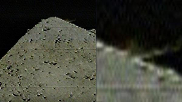 Первые фотографии взрыва на астероиде Рюгю