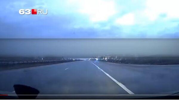 Жители Самары засняли на видео падение метеорита