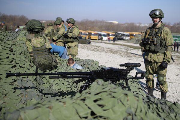 Крупнокалиберный пулемет НСВ-12,7 Утес представлен на открытии международного конкурса полевой выучки среди воинских подразделений ВДВ Десантный взвод