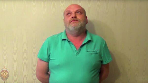Игорь Пирожок во время задержания