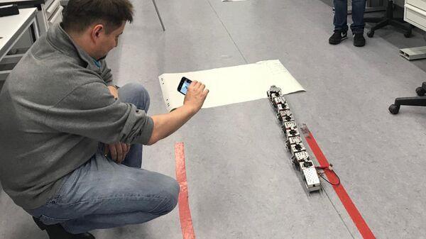 Прототип автономного планетохода для космических исследований в виде робота-змеи, созданный школьниками программы Дежурный по планете