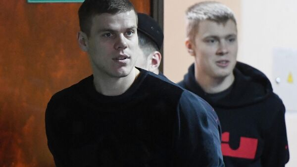 Александр Кокорин (на первом плане) и Кирилл Кокорин