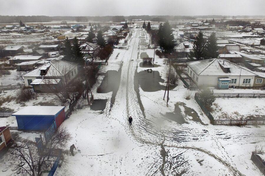 Деревня Аполлоновка в Омской области