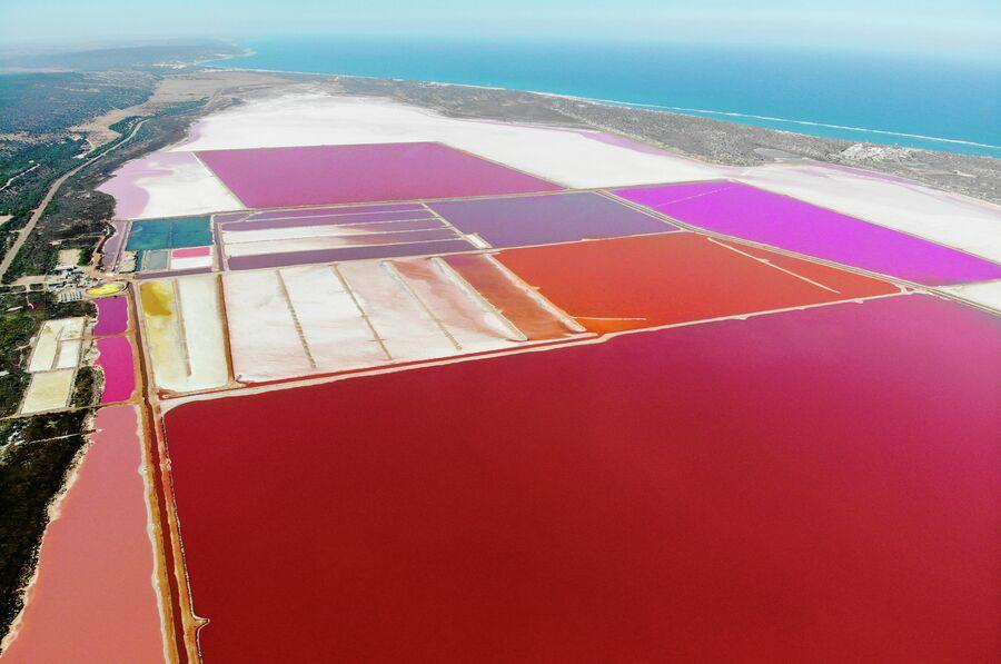 Австралия, минеральное озеро Hutt Lagoon