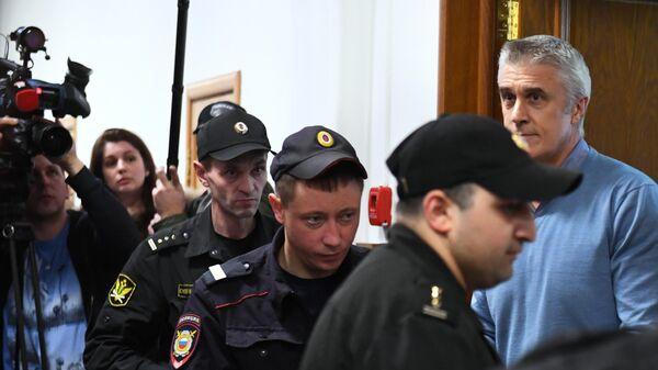 Основатель фонда Baring Vostok Майкл Калви на заседании в Басманном суде Москвы.