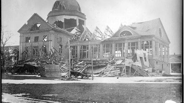 Последствия взрыва в Галифаксе