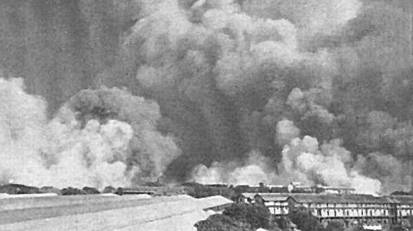 Взрыв парохода Форт Стайкин