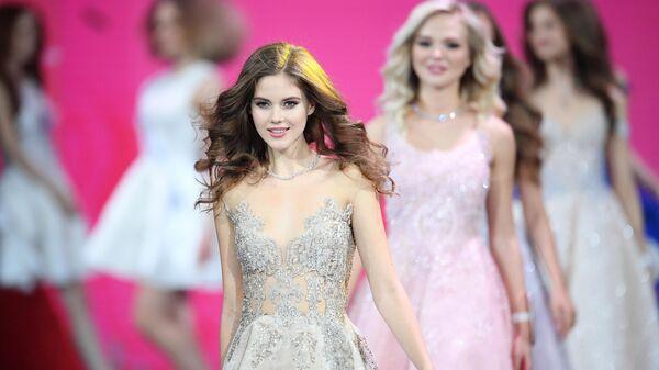 Участница во время выступления в финале конкурса Мисс Россия 2019 в Barvikha Luxury Village. 13 апреля 2019