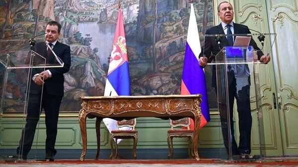 Встреча глав МИД РФ и Сербии С. Лаврова и И. Дачича