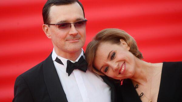 Актеры Егор Бероев и Ксения Алферова на открытии 41-го Московского Международного кинофестиваля (ММКФ)