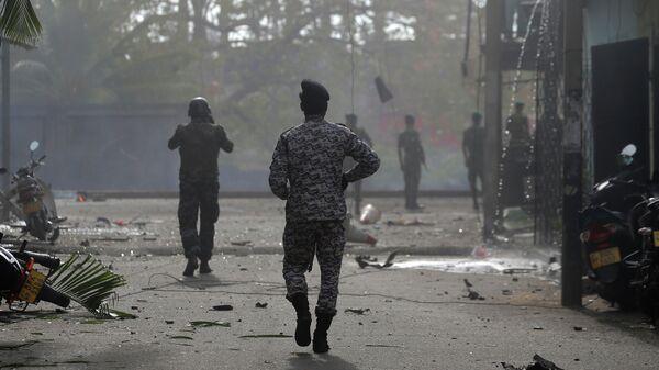Место взрыва в Коломбо, Шри-Ланка