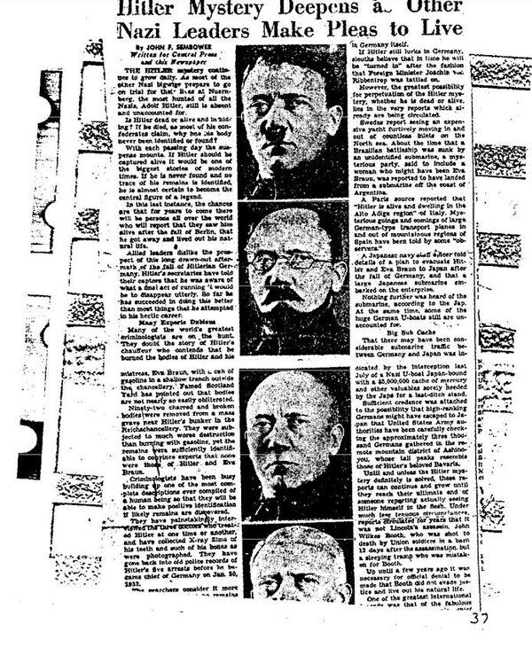 Рассекреченные документы ФБР о расследовании версии бегства Адольфа Гитлера в Аргентину