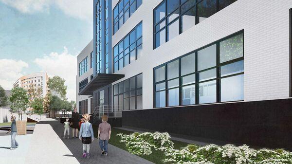 Проект образовательного комплекса с летним кинотеатром построят в Левобережном районе на севере Москвы