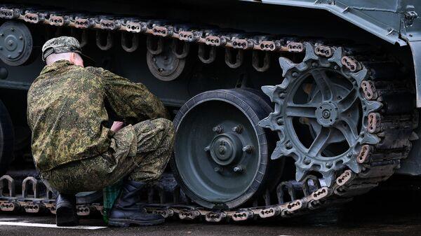 Подготовка военной техники к параду Победы на Красной площади 9 мая 2019 года